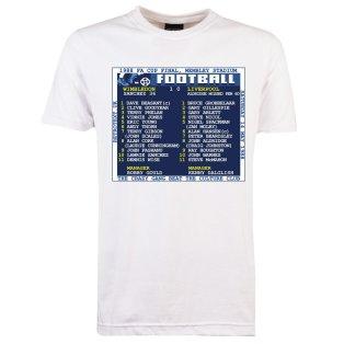 1988 FA Cup Final (Wimbledon) Retrotext T-Shirt - White