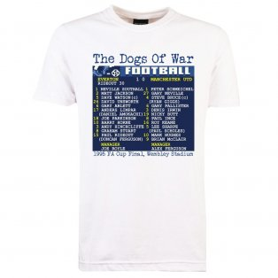 1995 FA Cup Final (Everton) Retrotext T-Shirt - White