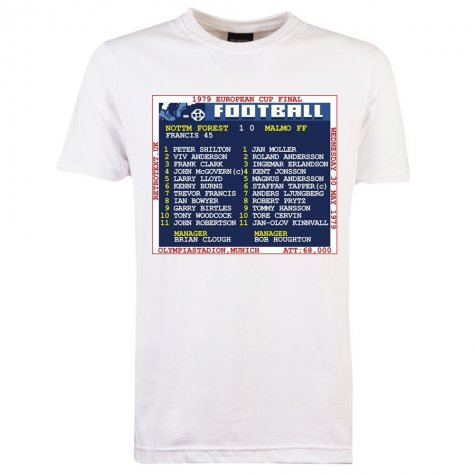 1979 European Cup Final (Nottingham Forest) Retrotext t-shirt