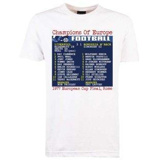 1977 European Cup Final (Liverpool) Retrotext t-shirt - White