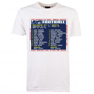 1968 European Cup Final (Man Utd) Retrotext T-Shirt - White