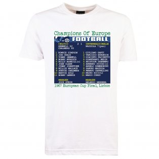 1967 European Cup Final (Celtic) Retrotext T-Shirt - White