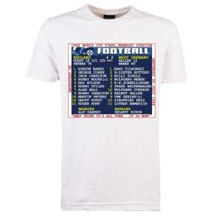 1966 World Cup Final (England) Retrotext T-Shirt - White