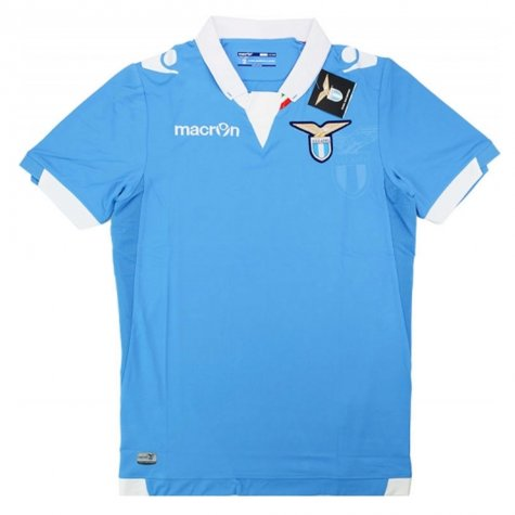 2014-15 Lazio Macron Authentic Home Football Shirt