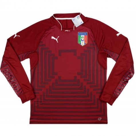 2014-15 Italy Puma Authentic Away Long Sleeve Goalkeeper Shirt