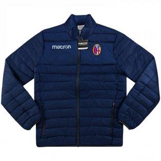 2017-2018 Bologna Macron Padded Jacket (Navy)