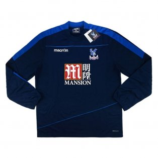 2016-17 Crystal Palace Macron Training Sweat Top (Navy)
