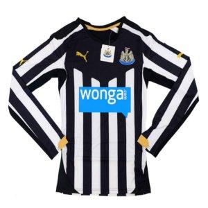 2014-15 Newcastle Puma Authentic ACTV Home Long Sleeve Football Shirt