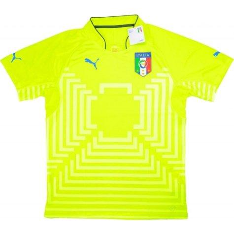 2014-15 Italy Puma Authentic Home Goalkeeper Shirt