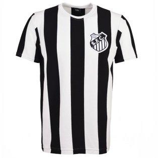 Santos 12th Man T-Shirt - Black/White Stripe