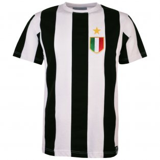 Juventus 12th Man T-Shirt - Black/White Stripe