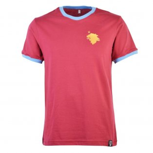 Aston Villa 12th Man T-Shirt - Maroon/Sky Ringer