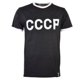 Soviet Union (CCCP) 12th Man T-Shirt - Black/White Ringer