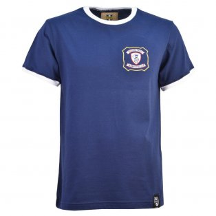 Falkirk 12th Man T-Shirt - Navy/White Ringer