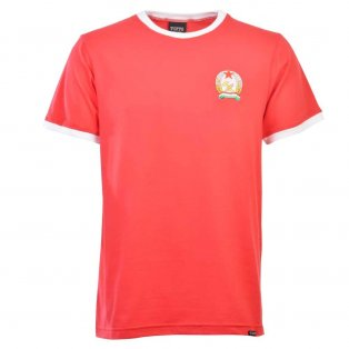 Hungary 12th Man T-Shirt - Red/White Ringer