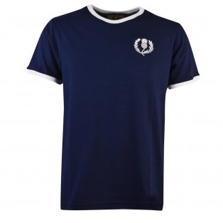 Scotland Rugby T-Shirt - Navy/White Ringer