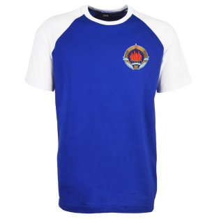 Yugoslavia Raglan Sleeve Royal/White T-Shirt