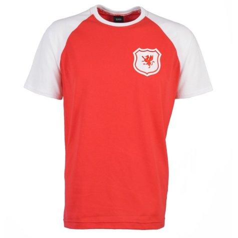 Wales Raglan Sleeve Red/White T-Shirt