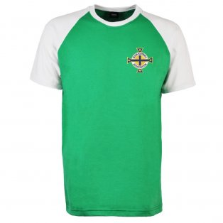 Northern Ireland Raglan Sleeve Green/White T-Shirt