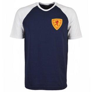 Scotland Raglan Sleeve Navy/White T-Shirt