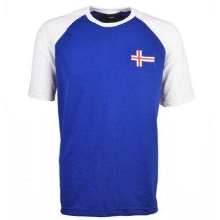 Iceland Raglan Sleeve Royal/White T-Shirt