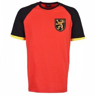 Belgium Raglan Red with Black/Yellow Sleeve T-Shirt