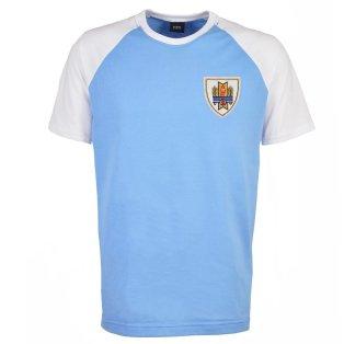 Uruguay Raglan Sleeve Sky/White T-Shirt