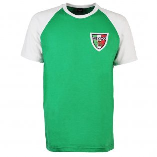 Mexico Raglan Sleeve Green/White T-Shirt