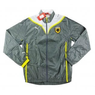 2009-10 AEK Athens Puma Presentation Jacket (Grey)