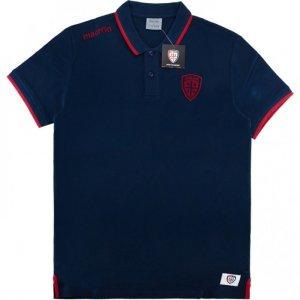 2016-2017 Cagliari Macron Polo Shirt (Navy)