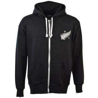 New Zealand 1924 Vintage Rugby Zipped Hoodie - Black