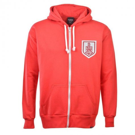 Bournemouth Zipped Hoodie - Red