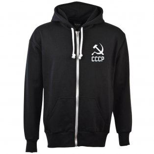 Soviet Union (CCCP) Zipped Hoodie - Black