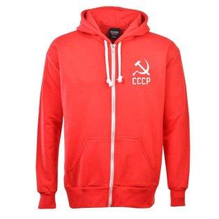 Soviet Union (CCCP) Zipped Hoodie - Red