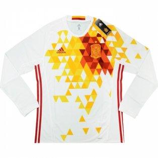 2016-17 Spain Adidas Authentic Away Long Sleeve Football Shirt