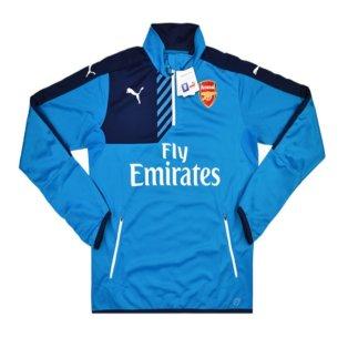 2015-16 Arsenal Puma Half Zip Training Top (Aqua)