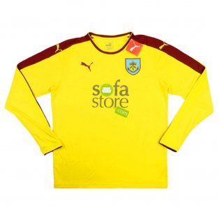 2015-16 Burnley Puma Away Long Sleeve Football Shirt