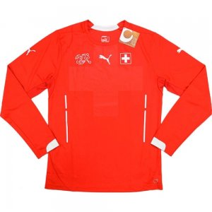 2014-15 Switzerland Puma Home Authentic Long Sleeve Football Shirt