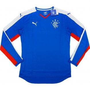 2015-16 Rangers Puma Home Long Sleeve Football Shirt