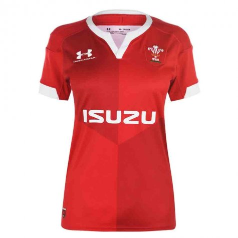 2019-2020 Wales Under Armour Home Ladies Rugby Shirt
