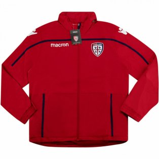 2018-2019 Cagliari Macron Windbreaker Jacket (Red)