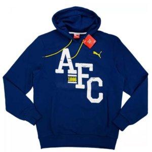 2014-15 Arsenal Puma Fan Crest Hooded Sweat Top