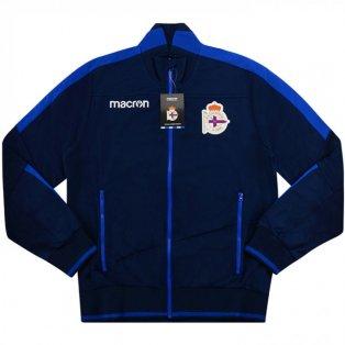 2018-2019 Deportivo Macron Anthem Jacket (Navy)