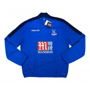 2016-17 Crystal Palace Macron Half Zip Training Top (Blue)