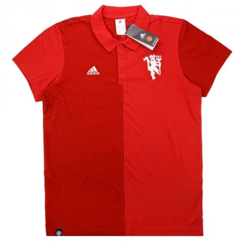 2016-17 Manchester United Adidas Polo Shirt (Red)