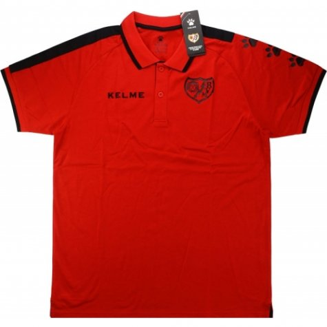 2016-17 Rayo Vallencano Kelme Polo Shirt (Red)