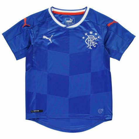 2017-18 Rangers Puma Home Football Shirt (Kids)