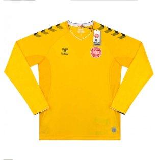 2018-2019 Denmark Hummel Home Goalkeeper Shirt