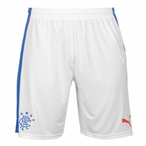2017-18 Rangers Puma Home Football Shorts