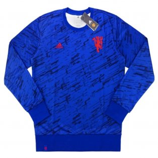 2016-17 Manchester United Adidas Presentation Sweat Top (Blue)